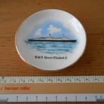 Cunard Line: QE2 Souvenir Portrait Pin Dish