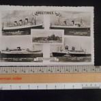 4 ship Ocean Liner Southampton postcard: