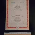United States Line: SS Leviathan TC Breakfast and Luncheon Menu card August 11 1929.
