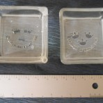 SAL: 3 Crown glass pin dishes