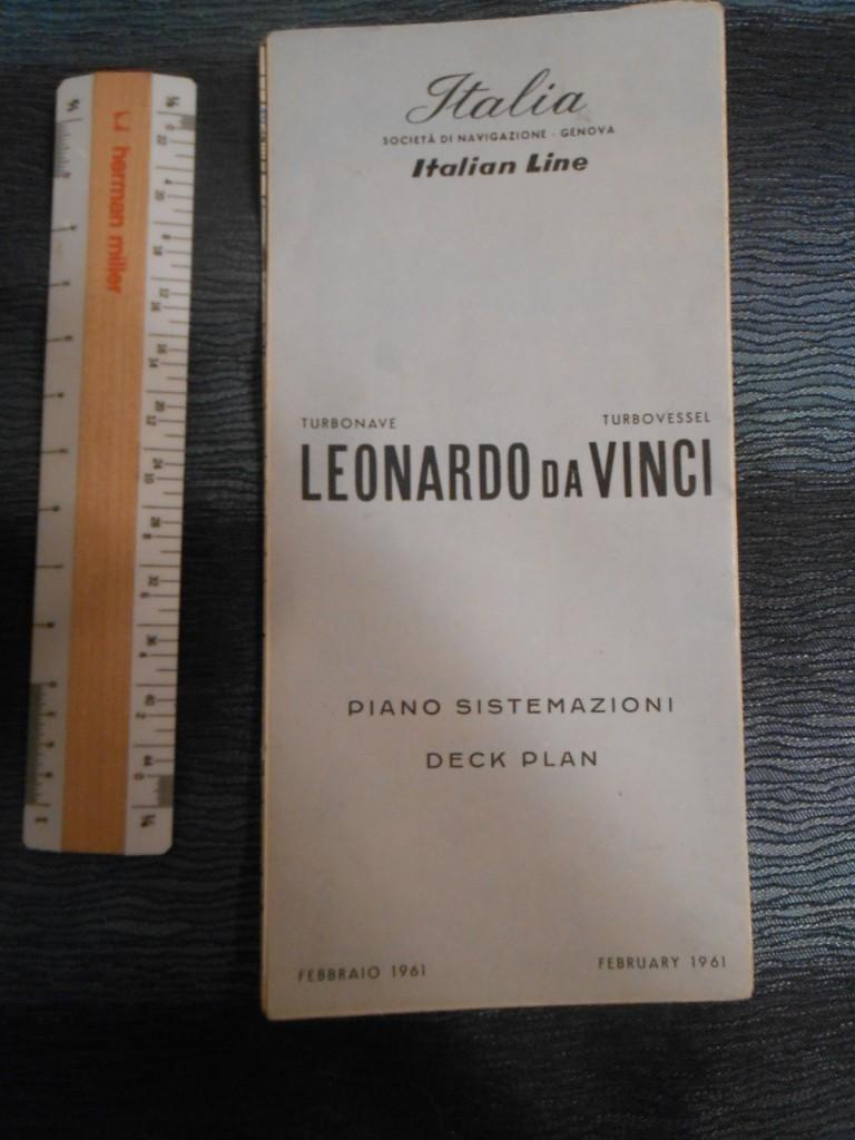 Italian Line  Leonardo Da Vinci Deck Plan February 1962