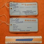 French Line: MS Lafayette Tourist Baggage Tag Restocked