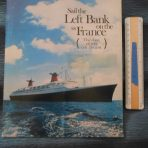 French Line: SS France Sail the Left Bank Tourist Brochure.