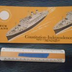 American Export: SS Independence and SS Constitution Orange deck plan booklet November 1958
