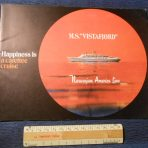 """NAL: Vistafjord """"Happiness is a Carefree Cruise"""" Brochure"""