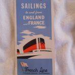 French Line: Sailings April 1951 folder