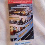 Italian Line: 1963 Sailings tabbed folder