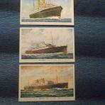 HAL: 3 Interwar postcards Veendam, Westernland and Rotterdam.