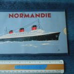 French Line: Normandie Slide Rule First Class Deck Plan.