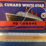Cunard White Star Line: RMS Queen Mary Baggage Tag