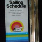 Italian Line: 1974 Sailing Schedule