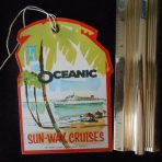 Home Lines: SS Oceanic Baggage Tag