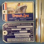 """French Line: """"Paris"""" Baggage Tag: restocked"""