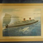 Cunard Line: Queen Elizabeth and Mary Agency Print