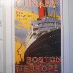 Cunard Line: Boston to Europe Mini Reproduction Poster