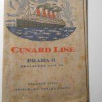 Cunard Line: Aquitania Fabric ticket folder