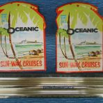 Home Lines: Oceanic Baggage Stickers