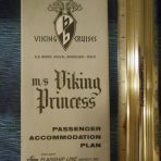 Flagship Lines: Viking Princess Deck plan December 1964