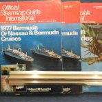 3 Official Steamship Guides: 1977 Bermuda and Caribbean