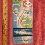Grace Line: Cruising the Caribbean: New Santas Magdalena, Mariana, Maria and Mercedes DP booklet