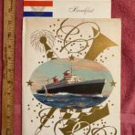 United States Lines: SSUS Gala Menu Cover and 2 Breakfast Menus