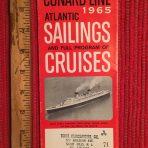 Cunard Line: Sailings folder #1 February 1965