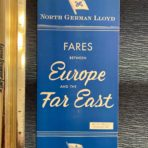 NGL: Blue Fare Plan for Europe to the Far East 1964