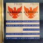 United States Lines: SS America Cabin Class Plans 1952