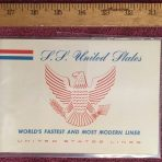 United States Lines: SS United States early Mini Beal Brochure