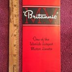"""CWS: Britannic Interior Fold-Out """"One of the world's largest Motor Liners"""""""
