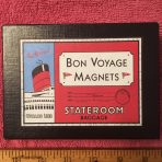 """Cunard: Hotel Queen Mary """"Bon Voyage"""" Magnets"""