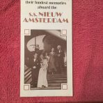 "HAL: Nieuw Amsterdam ""Gold old days"" Final cruises 1973 fold out."