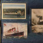 Cunard Lines: 3 Aquitania Profile Postcards
