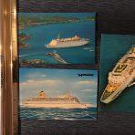 Home Lines: 3 Postcards Oceanic, Atlantic, Homeric.