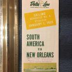 Delta Line: Sailing Schedule for 1955