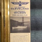 American President Lines: President Wilson and Cleveland Deck Plans 1965