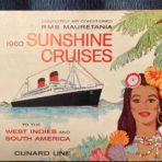 Cunard: 1960 Mauretania Sunshine Cruises Booklet.