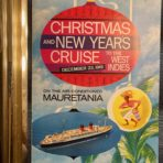 Cunard: 1961 Mauretania Christmas and New Year's Cruise Booklet and Plan.
