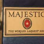 "White Star Line: Majestic: The World's Largest Ship ""Brown"" Brochure."