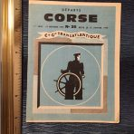French Line: Corse Departures Booklet
