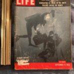 Italian Line: Dive to the Doria Life magazine September 1956