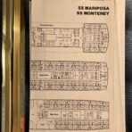 Pacific Far East Line: SS Mariposa and Monterey Agents 3 ring binder plan