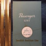 "SAL"" Passenger List for the Kungsholm dated December 20 1969"