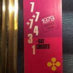 Epirotiki Cruises: 1979 Various Cruises flyer.