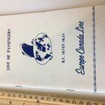 Europe Canada Line: MV Seven Seas Passenger List July 1959