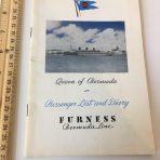 Furness Bermuda Line: Queen of Bermuda PL September 16th 1950.