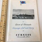 Furness Bermuda Line: Queen of Bermuda PL September 17th 1949.