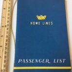 Home Lines: Italia Passenger List