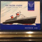 United States Lines: SS United States Souvenir Log 348 W