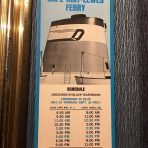 Cape May-Lewes Ferry Schedule Brochure and Route Map.